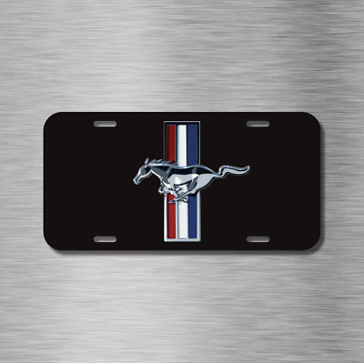 Mustang Black Ford Vehicle License Plate Front Auto Tag NEW Gt Fastback Shelby • 14.99$