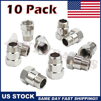 $16.55 • Buy 02 O2 Oxygen Sensor Extender Adapter Extension Spacer HHO Test Pipe Bung (10)