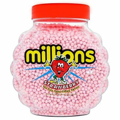 £17.99 • Buy 2.27kg Jar Of Millions Strawberry Flavour Chewy Sweets Free Delivery REDUCED