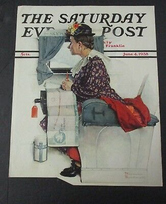 $ CDN28.68 • Buy Norman Rockwell June 4, 1938 Saturday Evening Post, COVER ONLY