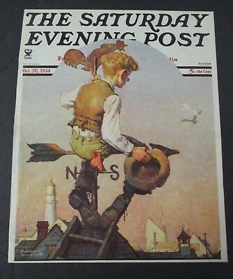 $ CDN28.26 • Buy Norman Rockwell October 20, 1934 Saturday Evening Post, COVER ONLY