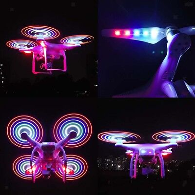 AU39.99 • Buy 4pcs LED Flash Propeller For DJI Phantom 3 Pro Quick-release Low-noise Prop