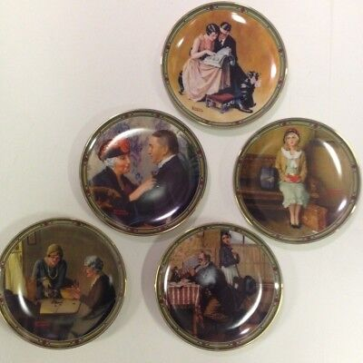 $ CDN93.03 • Buy Lot Of 5 Norman Rockwell's  AMERICAN DREAM SERIES  Collector Plates NIB
