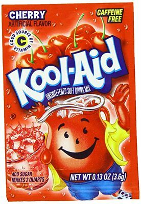 1 Pack Of Cherry FLAVOR Kool Aid Drink Mix Vitamin C • 1.41£