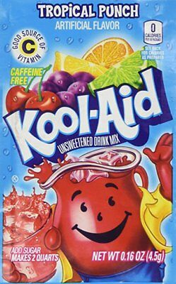 £1.41 • Buy 1 Pack Of Tropical Punch FLAVOR Kool Aid Drink Mix Vitamin C