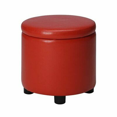 $62.29 • Buy Convenience Concepts Designs4Comfort Round Accent Storage Ottoman In Red