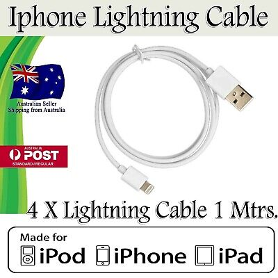 AU8.78 • Buy 4 X Genuine Apple IPhone 8 9 X 11 P IPad IPod  MFi-Certified Data Cable Charger