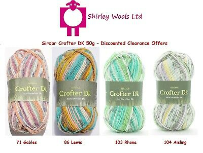 Sirdar Crofter DK 50g - Clearance - RRP £3.87 - OUR PRICE £1.99 • 1.99£