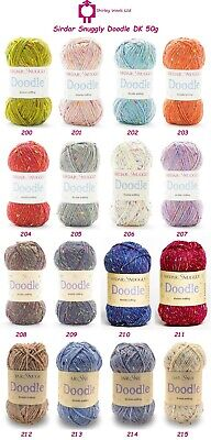 Sirdar Snuggly Doodle Double Knit 50g - Complete Range Clearance Prices • 1.99£