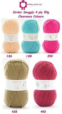 Sirdar Snuggly 4 Ply 50g - Discounted Clearance Offer • 1.99£