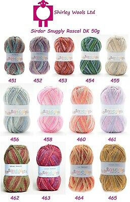 Sirdar Snuggly Rascal Dk 50g - Complete Range - Clearance Price £1.99 • 1.99£