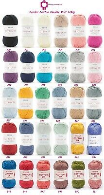 Sirdar Cotton Double Knit 100g - RRP £5.85 - OUR CLEARANCE PRICE From £2.99 • 4.75£