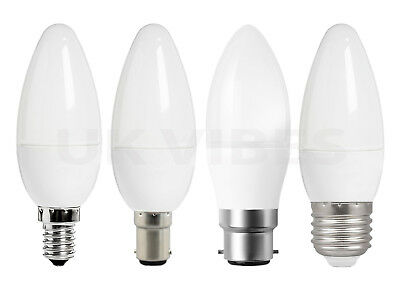 Energy Saving LED Light Bulb Candle 25W 40W 60w E27 B22 E14 SES B15 Long Life A+ • 3.99£