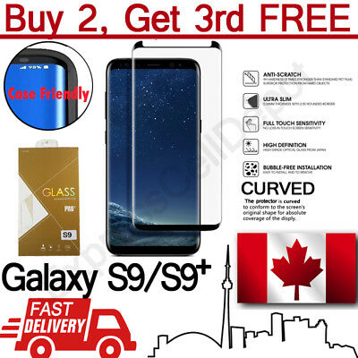 $ CDN6.99 • Buy Case Friendly Curved Tempered Glass Screen Protector For Samsung Galaxy S9 S9+