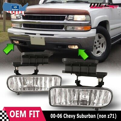 $25.59 • Buy For Chevy Suburban 00-06 Factory Bumper Replacement Fit Fog Lights Clear Lens