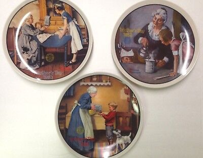 $ CDN52.98 • Buy Norman Rockwell - Mother's Day Series Collector Plates - Lot Of 3 Plates NIB