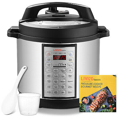 View Details LivingBasics® 1000W 16-in-1 Electric Pressure Cooker Brushed Stainless, 5-Quart • 65.99$ CDN