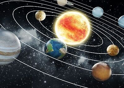 Space Wall Mural Planets Solar System Kids Giant Poster - A4 A3 A2 A1 Sizes • 13.99£
