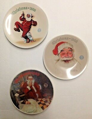 $ CDN65.99 • Buy Norman Rockwell Christmas Collector Plates NIB Lot Of 3 Santa Plates