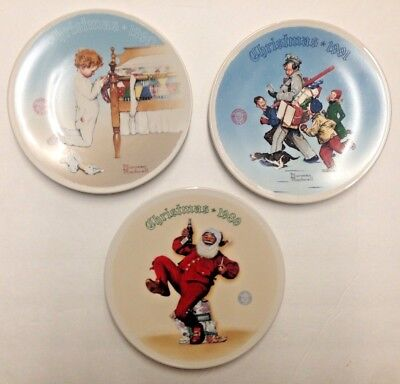 $ CDN63.04 • Buy Norman Rockwell Christmas Collector Plates NIB Lot Of 3 Christmas Plates