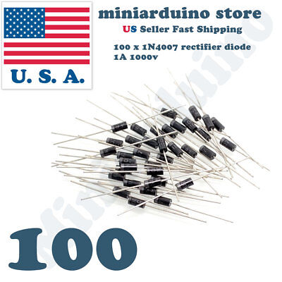 $ CDN6.20 • Buy 100pcs 1N4007 IN4007 1A 1000V Rectifier Diode DO-41 4007