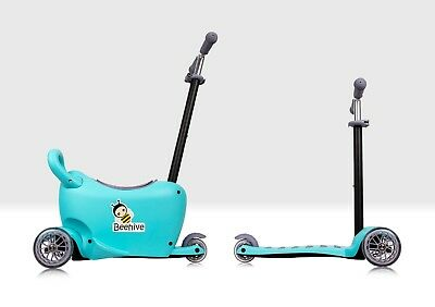 Kids 3 Wheel Mini 3 In 1 Scooter With Seat - Blue, Toddler Ride On 1 - 5 Years • 41.99£
