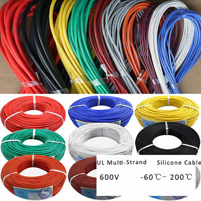 AU7.34 • Buy UL Multi-Stranded Silicone Cable Soft Wire 2/4/6/7/11/15/17awg 0.08mm 600V 200℃