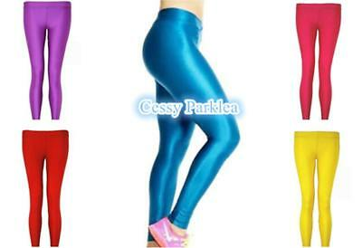 AU12.95 • Buy Ladies Neon Leggings 80s 1980s Eighties Disco Hen Fancy Dress Costume AU 8-12