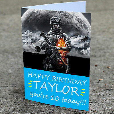 £2.85 • Buy Call Of Duty Birthday Card Professionally Printed And Personalised To Your Needs