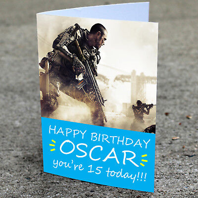 £2.85 • Buy Call Of Duty Personalised Birthday Card Son Grandson Brother Dad Father