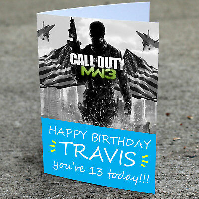 £2.85 • Buy Call Of Duty Birthday Card - Professionally Printed And Personalised