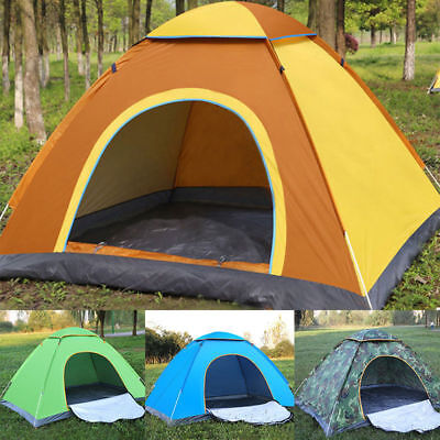 2 Man Person Pop Up Tent Hiking Festival Camping Tent Quick Instant Fast Pitch • 11.99£