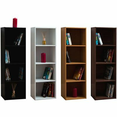 Oxford 4 Tier Cube Bookcase Display Shelving Storage Unit Wooden Stand Shelves • 21.95£