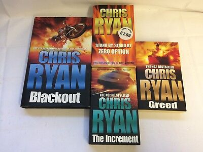 £9.99 • Buy Chris Ryan Book Bundle X4 - Blackout (signed), Greed, The Increment, Stand By