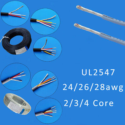AU8.30 • Buy UL2547 Shielded Cable Earphone Audio Signal Wire Black/White/Grey 2/3/4-Core