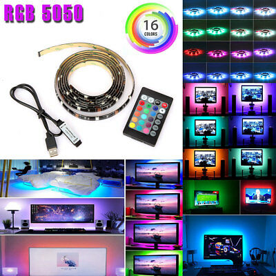$8.95 • Buy USB Powered RGB 5050 LED Strip Lighting For TV Computer Background Light 2m/6ft