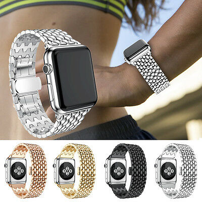 AU16.99 • Buy Stainless Steel Bracelet Strap Band Apple Watch IWatch Series 1 2 3 4 5 38/42mm
