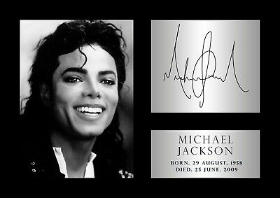 Michael Jackson Poster - #50 - Tribute - Signed (copy) - A4 (297mm X 210mm) • 3.99£