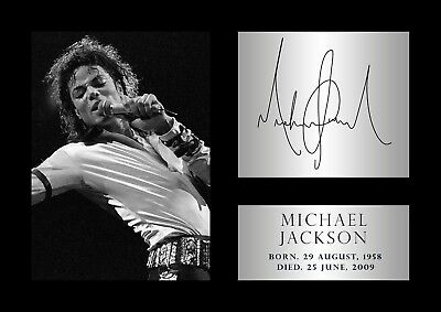 Michael Jackson Poster - #58 - Tribute - Signed (copy) - A4 (297mm X 210mm) • 3.99£