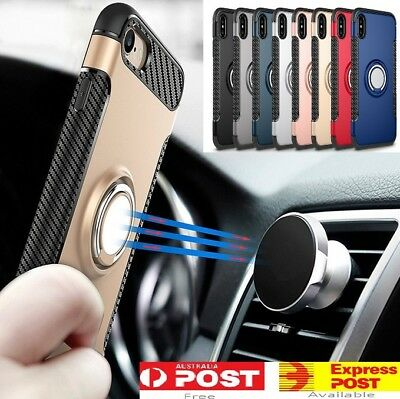 AU4.95 • Buy IPhone X 8 7 Plus Magnetic Shockproof Case Cover With Ring Car Holder For Apple