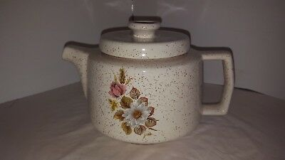 $ CDN14.99 • Buy Blue Mountain Pottery 6 Cup Teapot La Cuisine Country Charm With A Rose