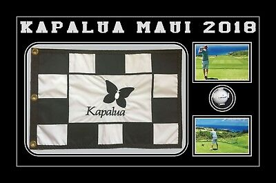 Frame Display For Golf Flag And Golf Ball Masters And Open Ryder Cup Black Mount • 70£