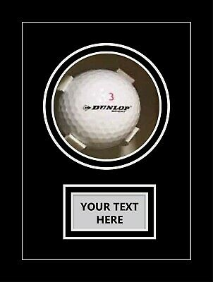 Golf Ball Display Case For Signed Golf Ball - Black Mount • 25£
