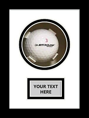 Golf Ball Display Case For Signed Golf Ball - White Mount • 25£