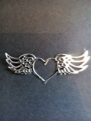 10 X Gold/Silver/white Heart/angel Wings,card Toppers,die Cut, Birthday,sympathy • 2.50£