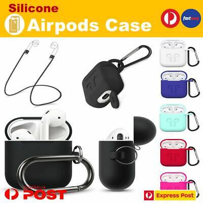 AU5.35 • Buy Shockproof For Apple Airpods Case Cover Skin Anti Lost Strap Holder Airpod Case