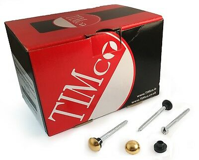 £2.66 • Buy 8 X 2  4 X 50mm Mirror Screws Self Tapping Polished Brass Plated Dome Caps