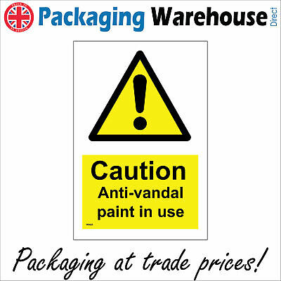 Caution anti-vandal Paint In Use Sign Ws625 Safety Sticker Rigid Indoor Outdoor • 15.58£