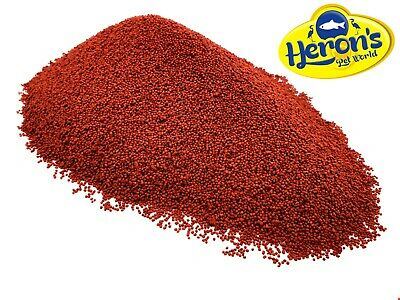 HERONS Red Discus Pellets TROPICAL FISH FOOD Colour Prima Cichlid Angel Tetra • 2.40£