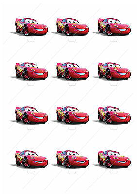 Novelty Lightning McQueen Cars Stand Up Cake Cupcake Toppers Edible Birthday • 2.59£